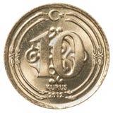 10土耳其语kurus硬币 图库摄影