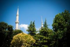 土耳其语Minurettes 免版税库存照片