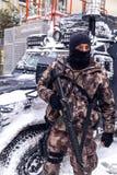土耳其迅速反应力量专业队Cevik Kuvvet 免版税库存照片