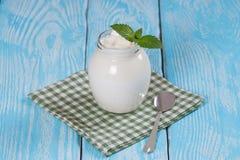 土耳其酸奶酸奶 免版税库存照片