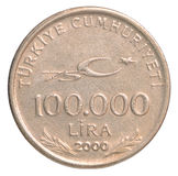 土耳其里拉硬币 免版税库存照片