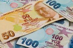 土耳其里拉钞票 免版税库存照片
