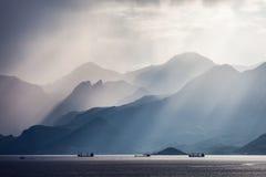 土耳其金牛座岩石山横向 免版税图库摄影