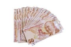 土耳其钞票fifthy的里拉 免版税库存照片