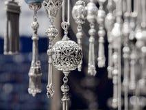 土耳其银色手工制造 库存照片