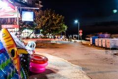 土耳其镇在晚上 免版税库存照片