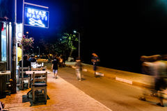 土耳其镇在晚上 库存图片