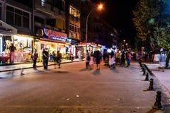 土耳其镇在晚上 免版税图库摄影