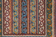 土耳其阿塞拜疆地毯的零件 库存照片