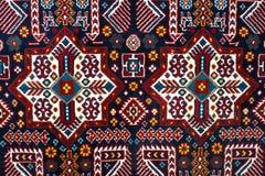 土耳其阿塞拜疆地毯的零件 免版税库存图片