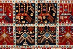 土耳其阿塞拜疆地毯的零件 库存图片