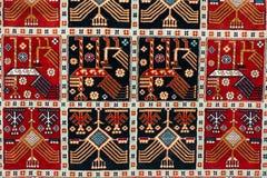 土耳其阿塞拜疆地毯的零件 免版税库存照片