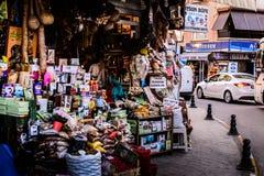 土耳其香料义卖市场 库存图片