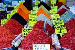 土耳其香料市场 库存图片