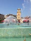 土耳其马尔马里斯港市中心喷泉 免版税库存图片