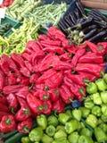 土耳其马尔马里斯港市场产物 免版税库存照片