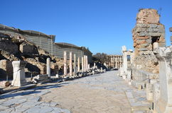 土耳其,伊兹密尔,古希腊希腊文化的不同的石台阶的贝尔加马,这是真正的文明,浴 图库摄影