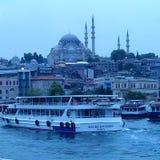 土耳其,蓝色清真寺 库存照片