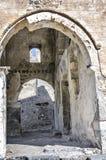 土耳其, Kayakoy鬼城, 17世纪,内部内容的希腊教会 库存照片