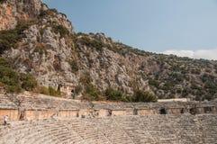 土耳其, Mirra古城,希腊罗马剧院 免版税库存照片