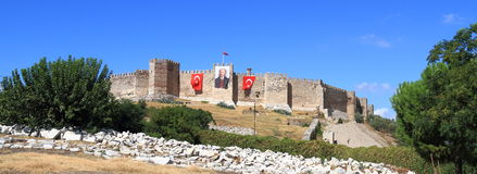 土耳其/塞尔丘克:塞尔丘克城堡 图库摄影