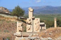 土耳其/塞尔丘克:Memmius纪念碑在以弗所 免版税图库摄影