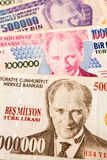 土耳其货币 免版税库存图片