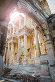 土耳其- 2018年4月12日, :Celsus图书馆,联合国科教文组织世界遗产名录s 免版税库存照片