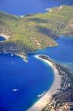 土耳其Oludeniz海滩看法  免版税库存图片