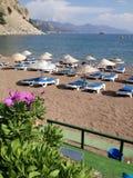 土耳其Turunc海滩和海湾 库存照片
