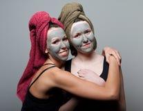 黏土脸面护理面具 库存照片