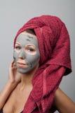 黏土脸面护理面具 库存图片