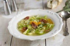 土豆和圆白菜汤 库存图片