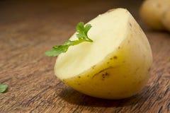 土豆和荷兰芹叶子 免版税库存图片
