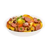 土豆和香肠晚餐 免版税库存照片