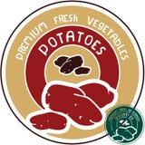 土豆标签 向量例证