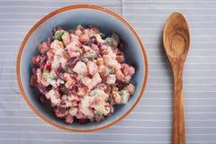 土豆沙拉用甜菜 图库摄影