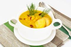 土豆泥汤用玉米 免版税库存图片