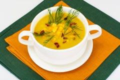 土豆泥汤用玉米 免版税图库摄影