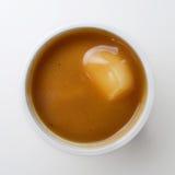 土豆泥用小汤 库存图片