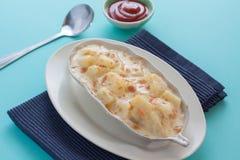 土豆澳大利亚焦干酪 图库摄影