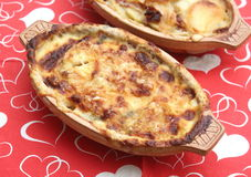 土豆炖煮的食物 免版税图库摄影