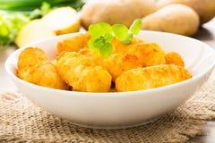 土豆炸丸子 免版税图库摄影