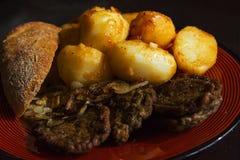 土豆炸肉排面包 免版税库存照片