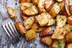 土豆烤了 免版税图库摄影