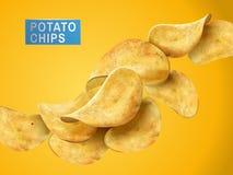 土豆片元素 向量例证