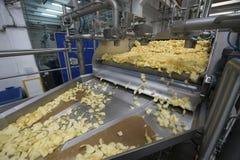 土豆片工厂 免版税库存照片