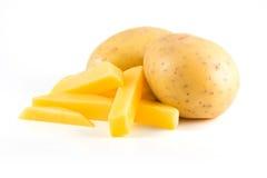 土豆用炸薯条 库存照片