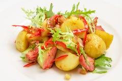 土豆用肉 库存图片