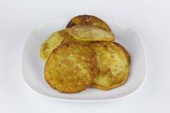 土豆薄烤饼或Kartoffelpuffer 免版税库存照片